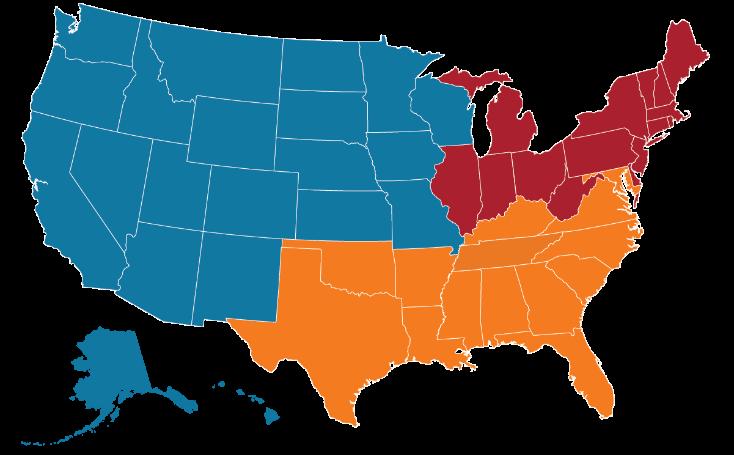 Janus Henderson United States Regions Map